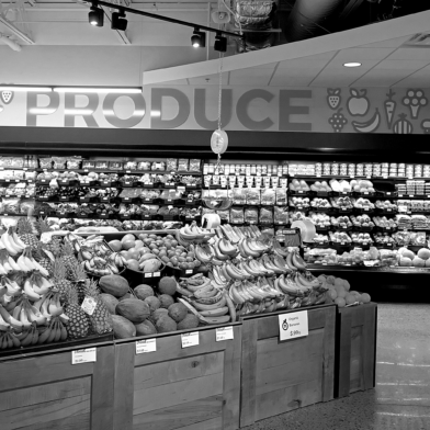 Produce section at North Market