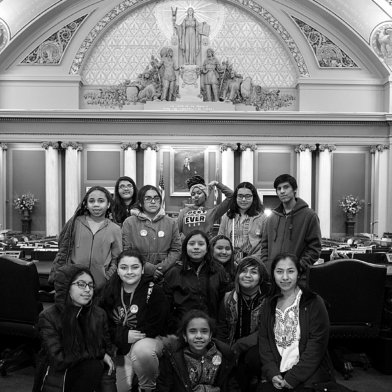 Waite House youth visiting the MN capitol