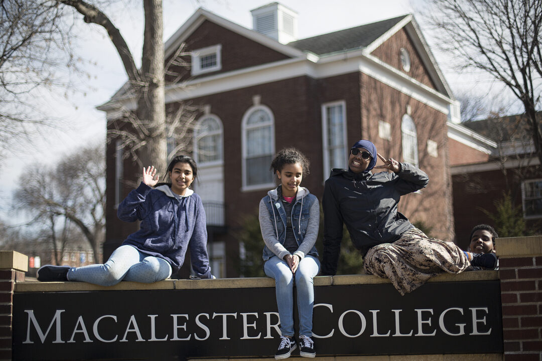 FANS students visiting Macalester College