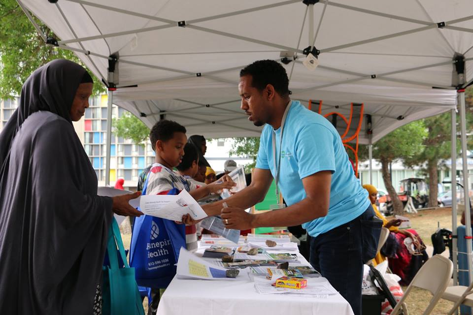 Staff at Brian Coyle Center health fair