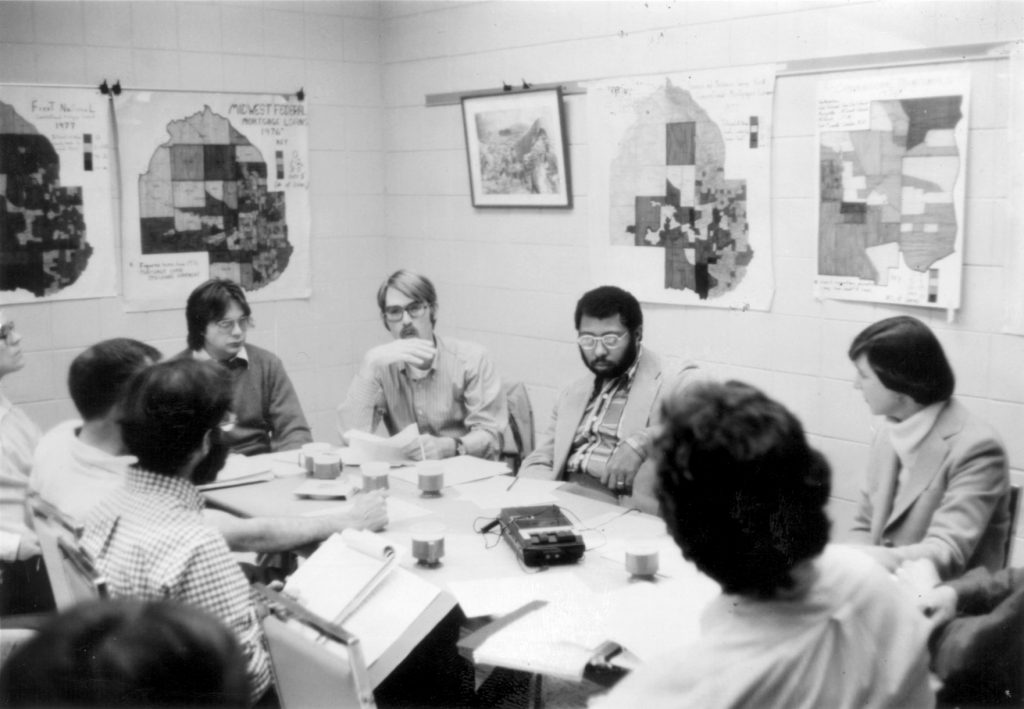 Community meeting at settlement house, early '70s