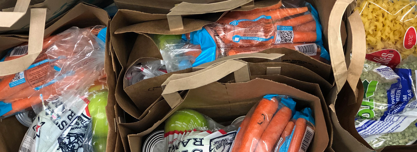 Food bags distributed at food shelf