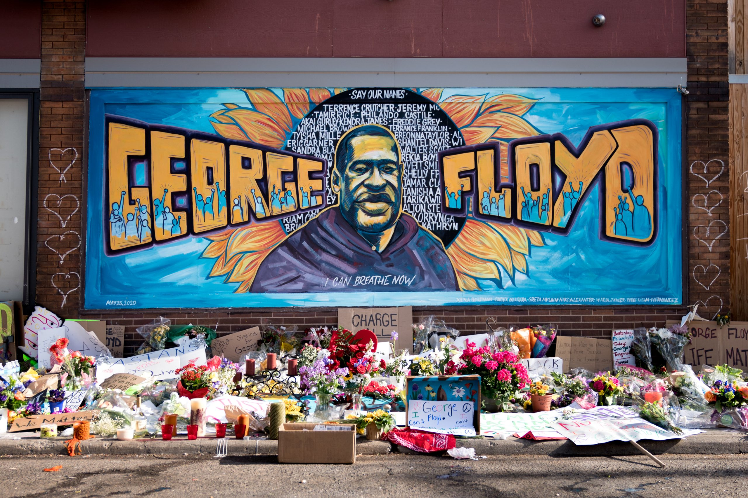 Mural for George Floyd at 38th/Chicago, photo credit: Lorie Shaull