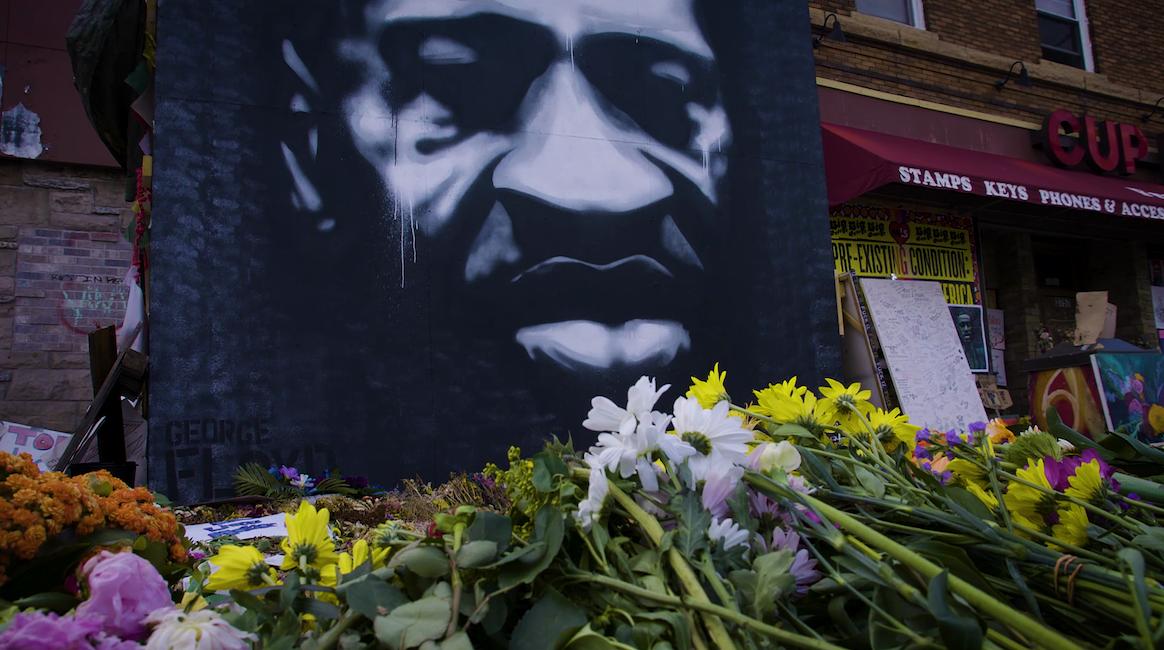 George Floyd memorial outside Cup Foods