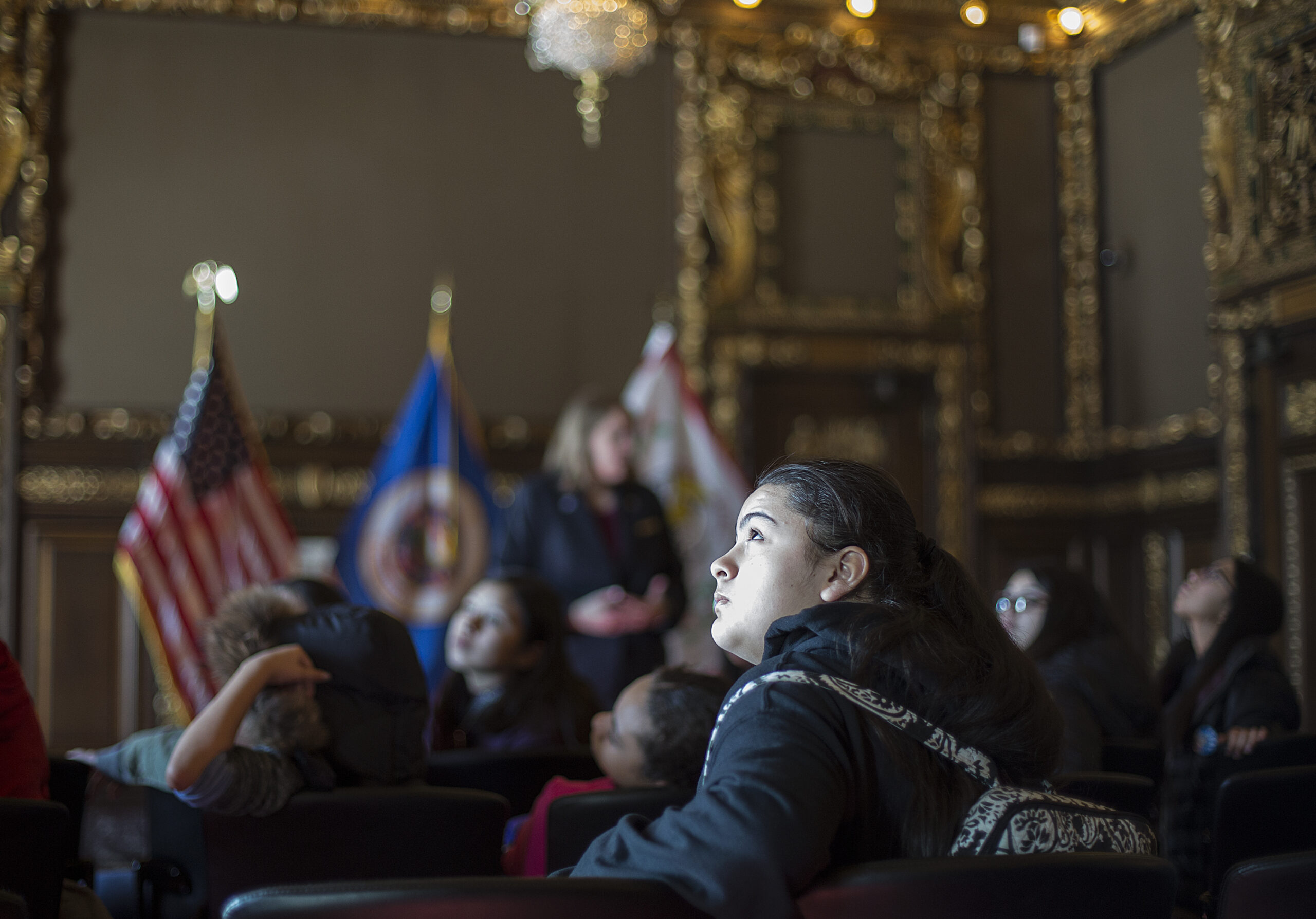 A young person from Waite House attending the State Capitol